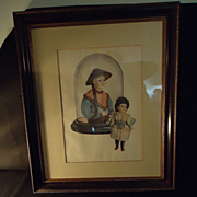 Sale Vintage Signed Numbered Bisque Doll Oriental Print Fab