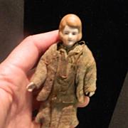 Antique Miniature Bisque Doll House Lady Original Clothes