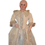 Antique French Papier Mache Millicent Doll Dressed BEAUTIFUL