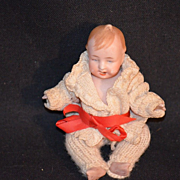 Antique Miniature Doll Bisque Dollhouse Character Laughing
