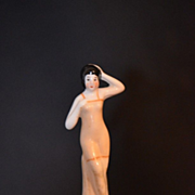 Old Miniature Bathing Beauty Doll  Half Doll Figurine Great for Dollhouse