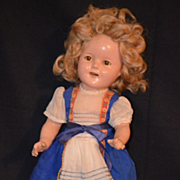Antique Shirley Temple Composition Doll Adorable