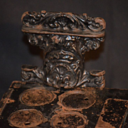 Antique Miniature Salesman Sample Doll Stove Oven Child Cast Iron
