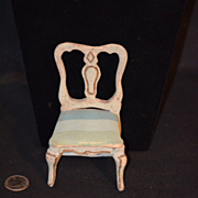 Antique Miniature Italian Painted Chair Dollhouse Doll Ornate