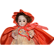 Antique Miniature Bisque Doll Dollhouse Dressed Gorgeous