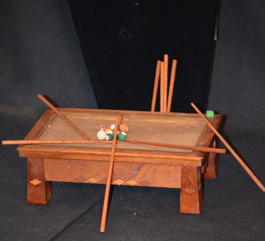 Vintage Miniature Dollhouse Pool Table For Doll Unusual From Oldeclectics On Ruby Lane