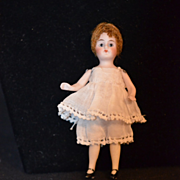Antique Miniature Bisque Doll Flapper Dollhouse Dressed Adorable