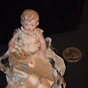 Antique Doll Bisque Half Doll Adorable Dollhouse Miniature