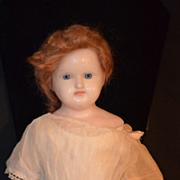 Antique Doll Wax Glass Eyes Beautiful