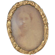 Antique Doll Miniature Frame Dollhouse Ornate Old Photograph