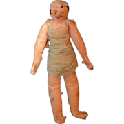Old Doll Miniature Cloth Unusual Folk Art Dollhouse