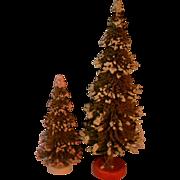 Vintage Doll Miniature Christmas Tree Set Germany Dollhouse