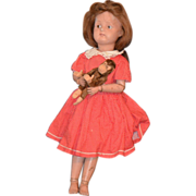 Antique Doll Schoenhut Wood Carved Jointed SWEET