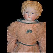 Old Parian China Head Doll Fancy Dress