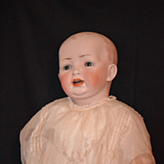 Antique Doll Kestner HUGE Baby Bisque Head Chunky Body