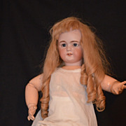 "Antique Doll French 28"" TETE Jumeau DEP Gorgeous Mechanism Original Tag"