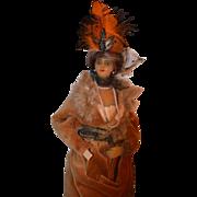Antique French Fashion Doll Lafitte & Desirat Signed Wax Lady Unusual