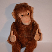 Old Steiff Monkey Jocko U.S. Zone For Doll Button Glass Eyes Toy