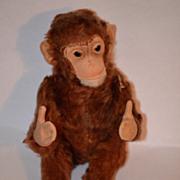 Old Steiff Monkey Jocko U.S. Zone For Doll Button Glass Eyes Toy