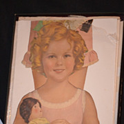 Old  Doll Shirley Temple  Paper Doll Set Large W/ Outfits