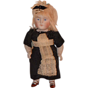 Antique Doll Bisque Miniature Maid All Bisque