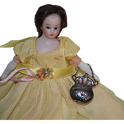 Miniature Doll Purse Sterling For Dollhouse Doll Lady
