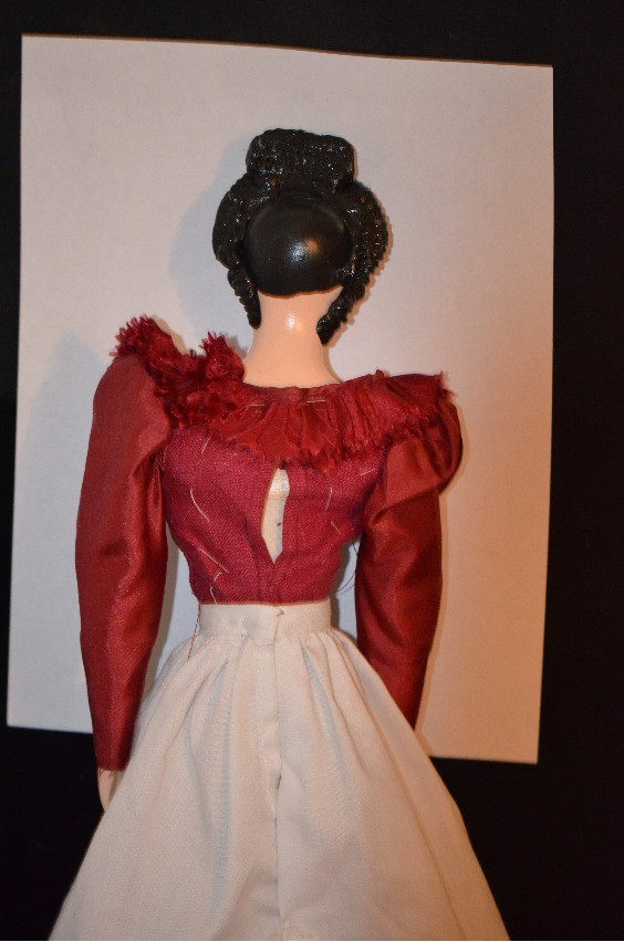 vintage doll unusual papier mache paper mache fancy hair style from