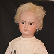 Antique Doll Bisque French BeBe 1907 HUGE Gorgeous