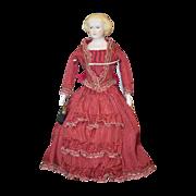 Vintage Doll Emma Clear Jenny Lind Doll Dressed
