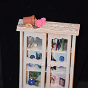 Miniature Doll Cabinet Dollhouse UFDC Filled W/ Miniatures