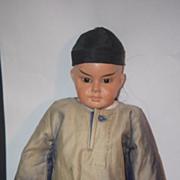 Antique Doll Oriental Character Papier Mache Paper Mache