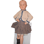 Antique Doll Schoenhut Carved Wood Jointed