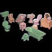 Vintage Doll Miniature Tootsie Toys Dollhouse Furniture Lot
