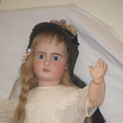 Antique Doll French Bisque TeTe Jumeau Chunky Body