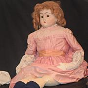 Antique Doll Papier Mache HUGE Paper Mache Old Cloth Body