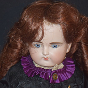 Antique Doll Bisque Solid Dome French Market Turned Head ABG