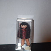 Vintage Doll Miniature Dollhouse Unusual Artist Doll