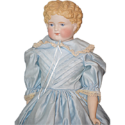 Antique Doll Parian China Head Nice Size