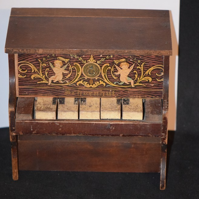 Antique Doll Schoenhut Miniature Piano Wood Ornate Works