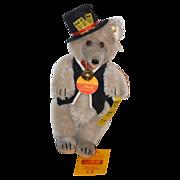 Vintage Steiff Teddy Bear Circus Bear for Doll Mohair Orig Tag Ticket Seller