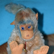 Vintage Hermann Teddy Mohair Monkey for Doll W/ Tag Unusual
