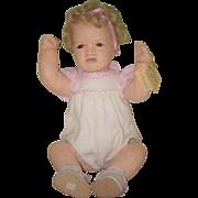 Vintage Doll Cloth Carla Thompson Felt Signed On Body Heart Felts