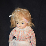 Antique Doll Wax over Papier Mache Glass Eyes
