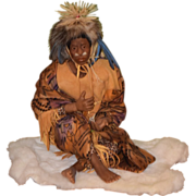 Vintage Doll African Healer Sculpy June Goodnow NIADA Black Doll