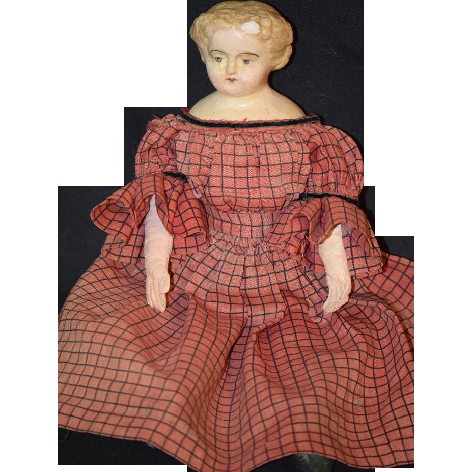 antique doll papier mache cloth doll sold on ruby lane. Black Bedroom Furniture Sets. Home Design Ideas