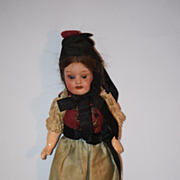 Antique Doll Bisque German All Original Clothing Miniature