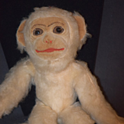 Old Doll Toy Monkey Norah Wellings Mohair W/ Tag