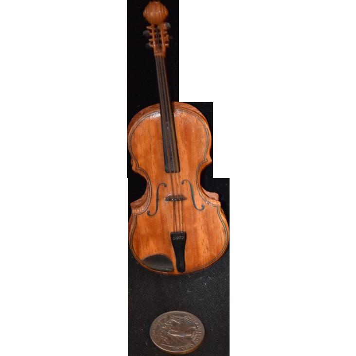 Vintage Doll Miniature Violin Dollhouse Wood Amp Metal From