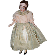Antique Doll Bisque Miniature Flapper Dollhouse