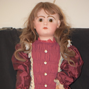 Antique Doll French Bisque Closed Mouth Bebe Jumeau